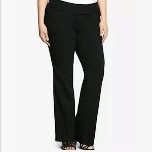 Torrid Black Trouser Elastic Pant Size 26 *NWT*